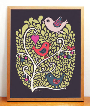 Birds & Berries Print