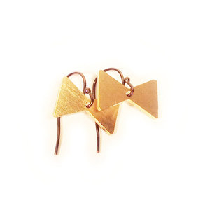 Mini Brass Bow Tie Earrings