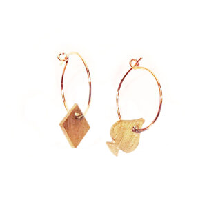 Mini Brass Spades & Diamonds Earrings