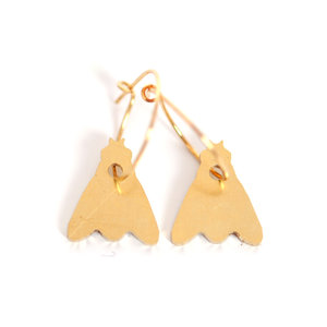 Mini Brass Fly Earrings