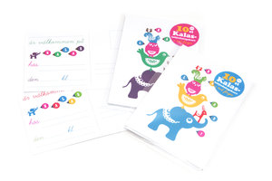 Animal Pile Party Invitation Cards