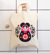 Mousematryoshka Mini Tote Bag Natural