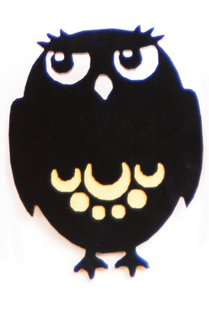 Big Owl Brooch