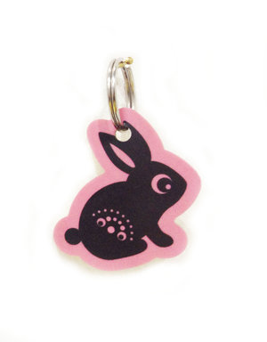 Rabbit Wooden Keyring
