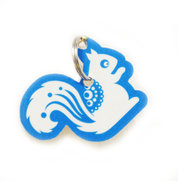 Squirrel Wooden Keyring