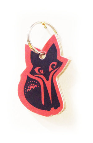 Fox Wooden Keyring