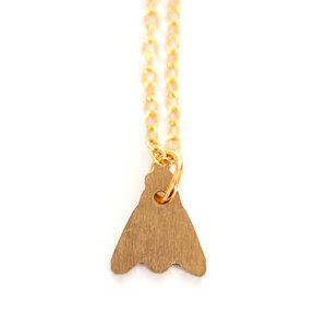 Mini Brass Fly Necklace