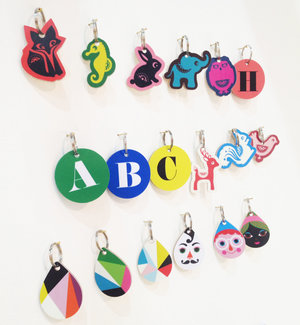 ABC Wooden Keyring