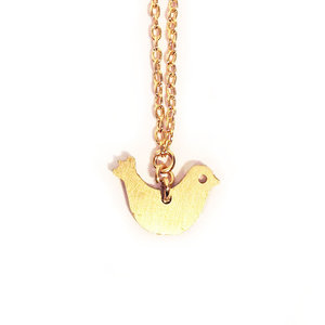 Mini Brass Bird Necklace