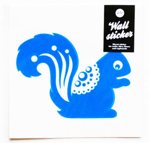 Squirrel Wallsticker Blue