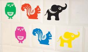 Elephant Wallsticker Black