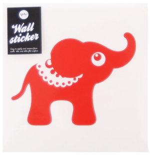 Elephant Wallsticker Red