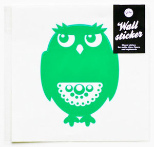 Owl Wallsticker Green