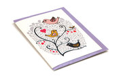 Birds & Berries Card White