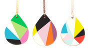 Big Geometric Drop Necklace