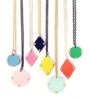 Polygon Rivet Necklace