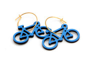 Mini Bicycle Earrings