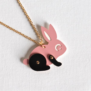 Jointed Rabbit Necklace