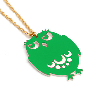 Big Green Owl Necklace