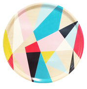Geometric Round Tray Multi 45cm